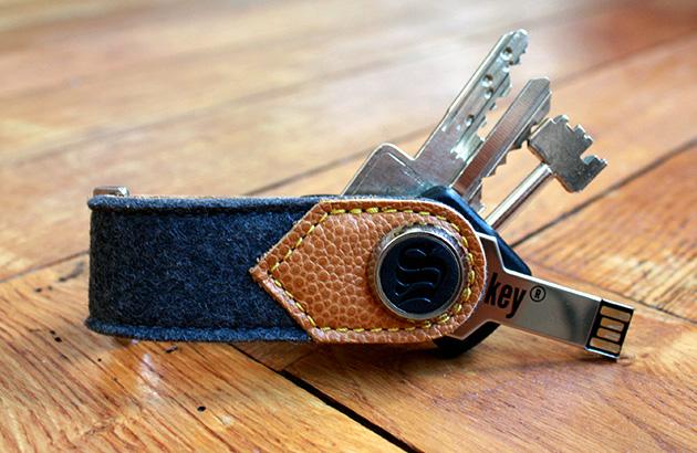 Porte clés en cuir pour Homme S-Key